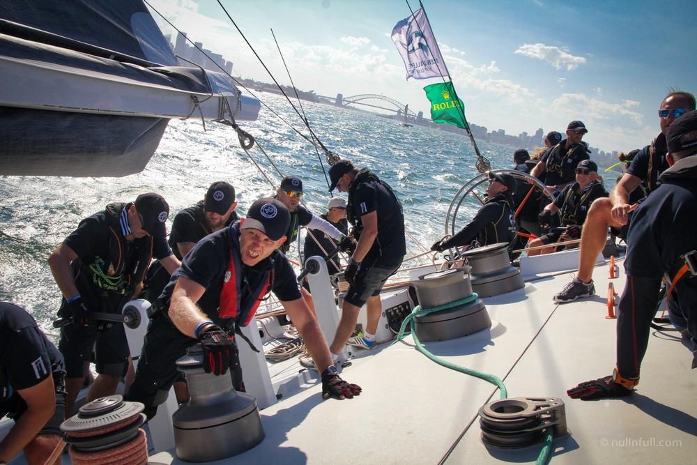 Giraglia Rolex Cup - załoga OCYC podczas startu do regat Sydney Hobart 2017